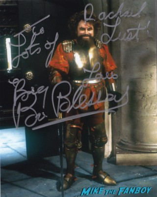 Brian Blessed signed autograph photo rare promo blackadder collectormania rare promo
