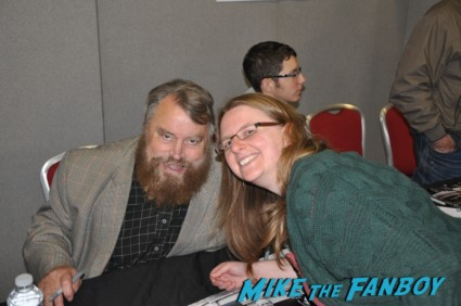 Brian Blessed fan photo rare promo hot signing autographs for fans at collectormania in london rare back adder star rare