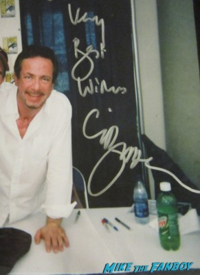 Clive barker rare fan photo signing autographs promo candyman director hot rare signature promo