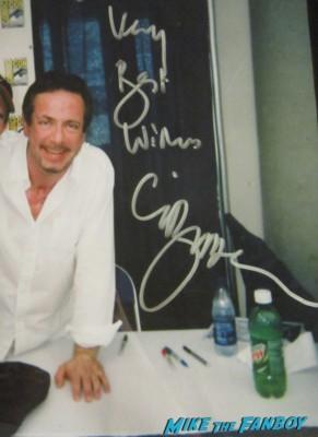 Clive barker rare fan photo signing autographs promo candyman director hot rare signature promo