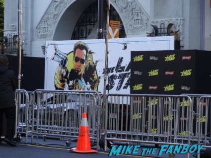 the last stand movie premiere red carpet Arnold Schwarzenegger jamie alexander rare promo red carpet photo