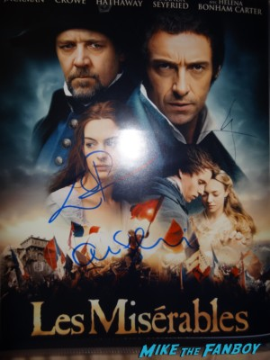 eddie redmayne signed autograph les miserables movie poster promo hugh jackman anne hathaway amanda seyfried tom holland