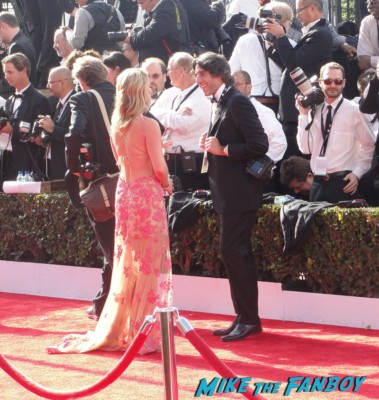 nancy o'dell on the red carpet at the SAG awards red carpet rare entertainment host rare promo