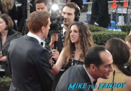 damian lewis on the red carpet at the sag awards 2013 baby mama parks and recreation star hot