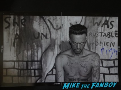 ninja signing autograpshs for fans rare signed photo rare promo Die Antwoord live in concert rare promo hot sexy The Fox Theater Pomona CA August  9, 2012! Photo Gallery!