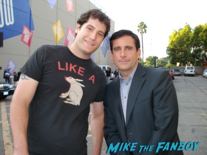 steve carell fan photo signing autographs for fans rare signature signed 40 year old virgin get smart the office rare promo