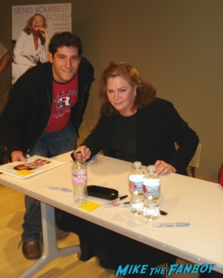 Kathleen Turner signing autographs for fans rare
