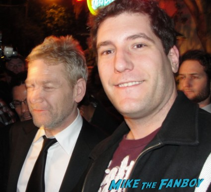 Kenneth Branagh posing for a fan photo with mike the fanboy photo flop rare my week with marilyn director thor hot promo