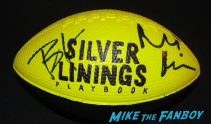 silver linings playbook promo football signed autograph bradley cooper robert De Niro rare promo