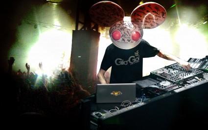 Deadmau5 live in concert rare mouse head dj rare promo promo press still photo
