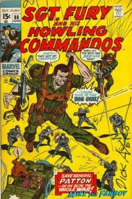 """Darling"" Richard ""Dick"" Ayers signed autograph rare howling commandos comic book cover rare promo hot"