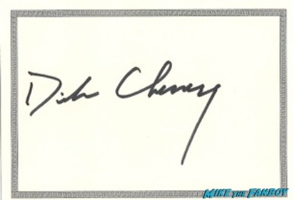 Dick Cheney signed autograph bookplate book plate card signature rare promo photo