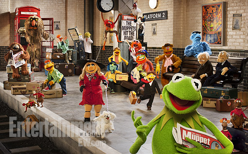 The Muppets again press promo still rare cast photo entertainment weekly promo photo hot kermit the frog miss piggy ralph
