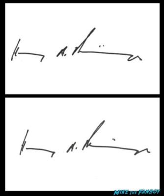 Henry A. Kissinger signed autograph promo bookplate book plate photo rare promo photo