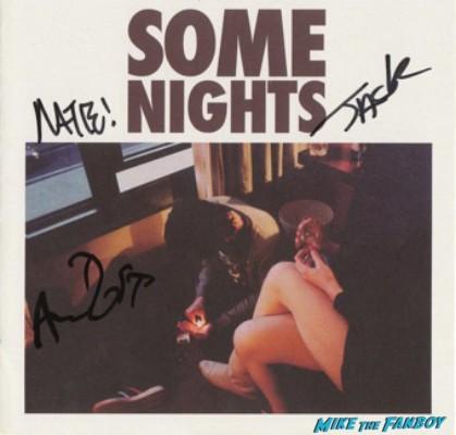 Fun signed autograph some nights promo cd cover rare promo photo hot