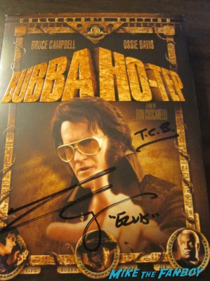 Bruce Campbell signed autograph dvd cover bubba ho-tep elvis rare taking care of business hot