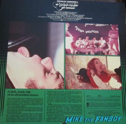 malcolm mcdowell signed autograph a clockwork orange promo laserdisc rare promo movie poster hot sexy signed signature rare