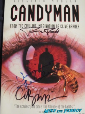 clive barker virginia madsen tony todd signed autograph candyman dvd cover rare hot horror film star movie poster one sheet
