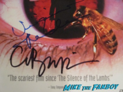 clive barker signed autograph candyman dvd cover rare hot horror film star movie poster one sheet