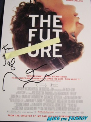 the future signed autograph miranda july signed autograph signature movie poster promo rare