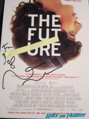 the future signed autograph miranda july signed autograph signature movie poster promo rare