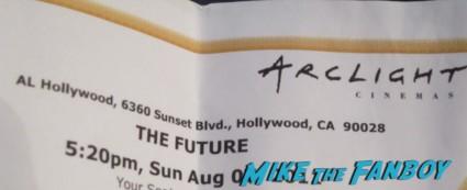 the future rare promo movie ticket arclight theaters rare