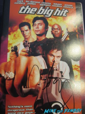 the big hit promo dvd cover signed autograph marky mark wahlberg rare lou diamond phillips antonio sabato jr. lanie kazan mark wahlberg hot sexy young photo marky mark sweaty hot press promo still hot sexy the big hit movie cooking christina applegate rare