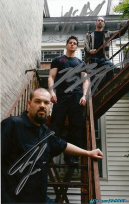 ghost hunters signed autograph photo rare promo Zak Bagans, Nick Groff, and Aaron Goodwin