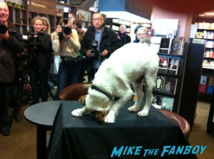 uggie paw print signing and book autograph signing the artist dog paw print waterstones london