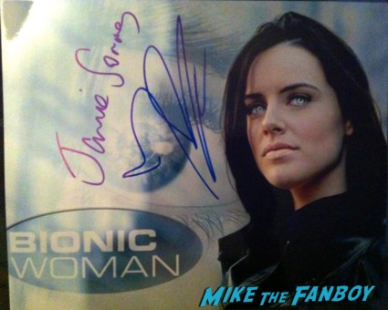 Michelle Ryan signed autograph bionic woman photo rare promo signature rare signing autographs west end