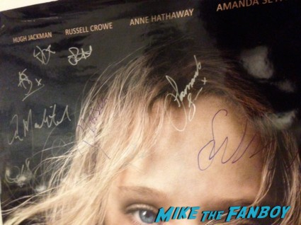 les miserables signed autograph movie poster promo amanda seyfried signature russell crowe hugh jackman eddie redmayne