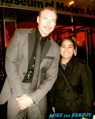 kevin durand fan photo signing autographs for fans les miserables movie premiere afterparty rare promo