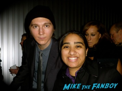 Paul Dano fan photo rare promo signing autographs for fans elisa in the big apple mike the fanboy