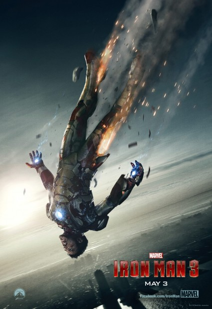 Iron Man 3 rare one sheet movie poster promo hot teaser movie poster robert downey Jr. marvel disney rare