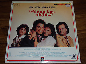 About Last night... Movie poster laserdisc rare promo hot rob lowe demi moore elizabeth perkins