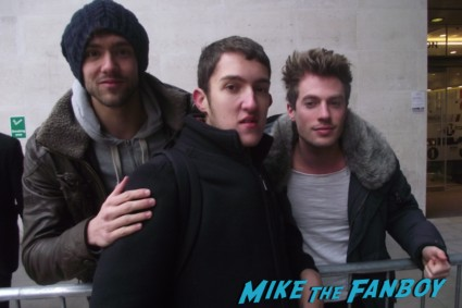 andy brown adam pitts fan photo from Lawson sexy hot british pop band signing autographs for fans rare promo signature