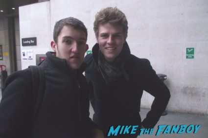 Joel Peat fan photo from Lawson sexy hot british pop band signing autographs for fans rare promo signature