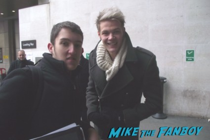 ryan fletcher fan photo from Lawson sexy hot british pop band signing autographs for fans rare promo signature