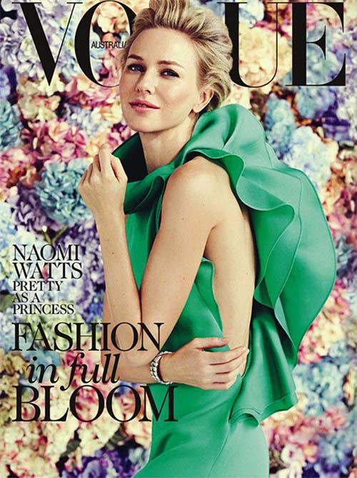 Naomi Watts vogue australia magazine cover february 2013 hot sexy photo shoot the ring the impossible rare promo