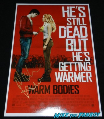 Nicholas Hoult signed autograph warm bodies rare promo movie poster hot rare signing autographs for fans hot sexy warm bodies 026