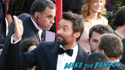 sexy Hugh Jackman on the red carpet at the 19th annual sag awards rare hot sexy promo jessica chastain signing autographs for fans at the sag awards red carpet 19th annual sag awards signed autograph zero dark thirty