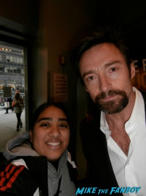 Hugh jackman fan photo rare signing autographs signature rare elisa in the big apple hot rare wolverine x men rare promo sexy