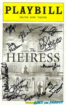 Jessica Chastain The heiress signed autograph broadway playbill cast signed hot sexy rare promo