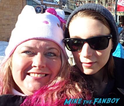 Rooney Mara Fan Photo signing autographs for fans sundance film festival 2013 hot sexy star rare promo