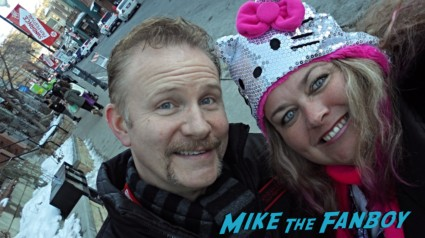 Morgan Spurlock fan photo with pinky at sundance film festival 2013 rare promo hot sexy documentary filmmaker