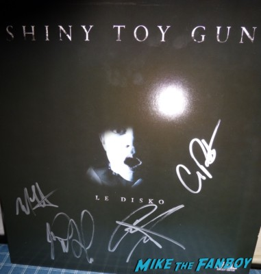 shiney toy guns signed autograph signature  Le Disko promo vinyl record lp hot promo rare