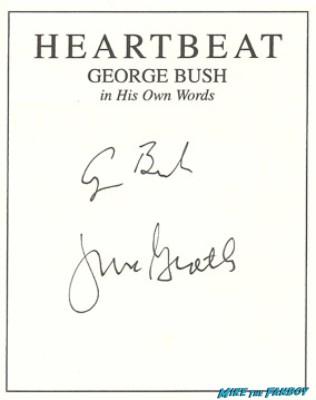 George H. W. Bush signed autograph book plate rare photo signature promo