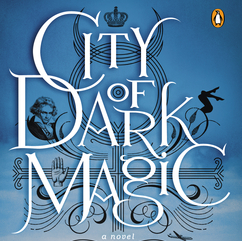 City of Dark Magic by Magnus Flyte logo book cover dust jacket rare promo cover rare