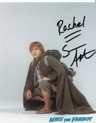 Sean Astin autograph photo rare promo lord of the rings star hot the goonies promo photo shoot sam