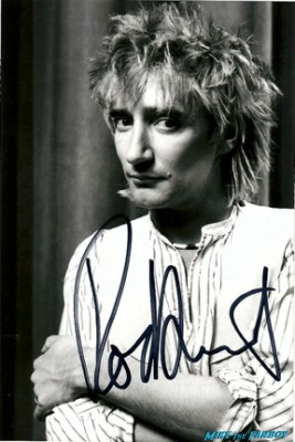 Rod Stewart signed autograph photo don't you think I'm sexy singer promo